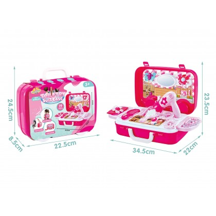 Pretend Game Kids Toy Candy Ice Cream Medical Tools Kitchen Toiletry Suitcase Set