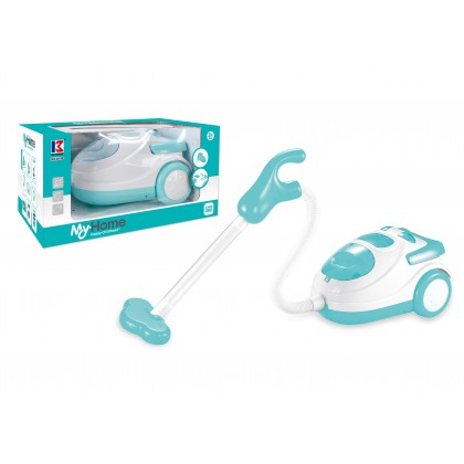 Blue Color MyHome Appliances Kids Pretend Toy Juicer Mixer Vacuum Toaster Iron Coffee Washing Microwave Kettle Stove