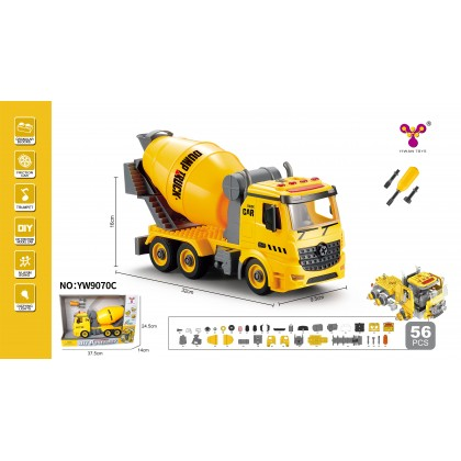1:12 DIY Assembly Lego Engineering Vehicle Series