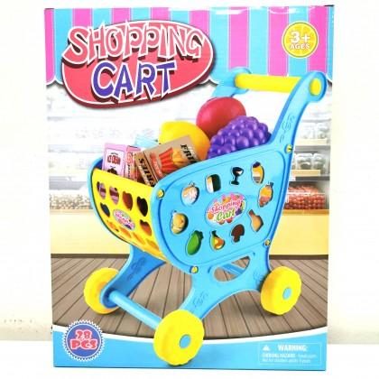 Kids Toy Shopping Cart 28PCS Assembly Cart