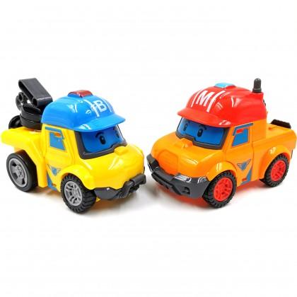 School Bus Poly Kids Toys Transformation Robo Mini Car Rescue Team 6 IN 1